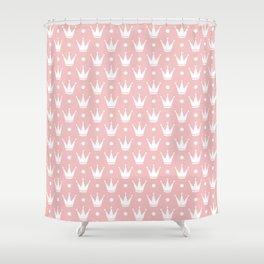 Cute Princess Tiara Pattern Shower Curtain