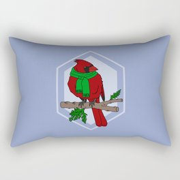 Chilly Cardinal Rectangular Pillow