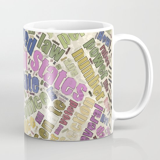 Colorful Constitution Text Graphic Mug