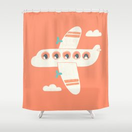Penguin Airlines Shower Curtain