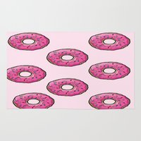 doughnut Area & Throw Rugs featuring Doughnut party! by 2fab4you