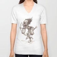 warrior V-neck T-shirts featuring Warrior by Shane Acuff