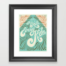 Joy Ride, Every Ride Framed Art Print
