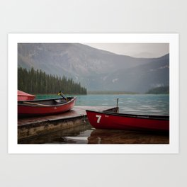 Quiet morning on the lake Art Print