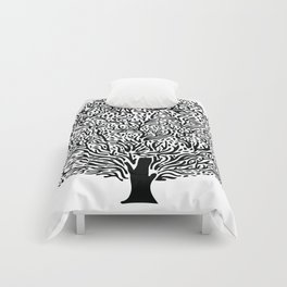 Black and White Tree Comforters