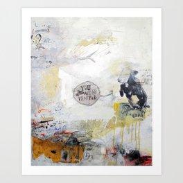Cow Says So. Art Print