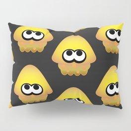 Splatoon Squid Pattern Yellow Pillow Sham