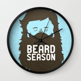 Beard Season Wall Clock