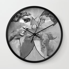 Ghost in the Stone #1 Wall Clock