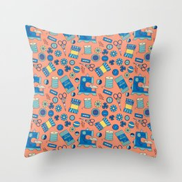 Buttons and Scissors and Pins, Oh My! Throw Pillow