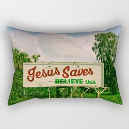 Jesus Saves Rectangular Pillow