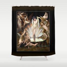 Bouguereau's Angels Surround Cupid Shower Curtain
