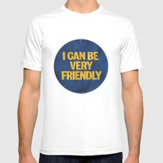 I can be Very Friendly Vintage print  Mens Fitted Tee White 2X-LARGE