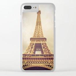 Eiffel Tower in Paris Clear iPhone Case
