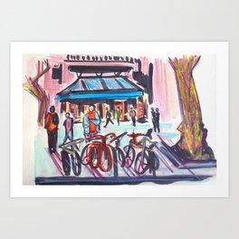 Les Rambles, Barcelona Art Print