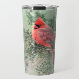 Christmas Bird (Northern Cardinal) Travel Mug