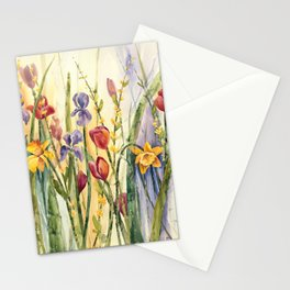 Spring Medley Flowers Stationery Cards
