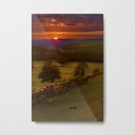 Peak District Sunset Metal Print