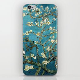 Blossoming Almond Trees, Vincent van Gogh. Famous vintage fine art. iPhone Skin
