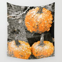 deathly hallows Wall Tapestries featuring All Hallows Eve by Liqrush