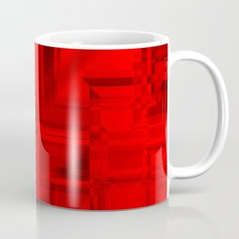 Metallic pattern of red squares with mirrored frames of bright rectangles.  Coffee Mug