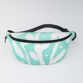 Whimsical watercolor flowers – turquoise Fanny Pack