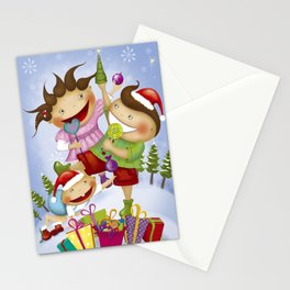 """Noviy god"" Stationery Cards"