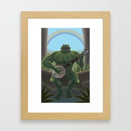 A Very Manly Muppet Framed Art Print