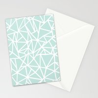 Ab Outline Thick Mint Stationery Cards