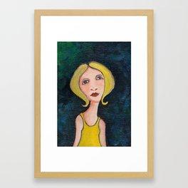 girl in yellow Framed Art Print