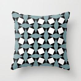 Geometric Pattern 188 (gray diamonds) Throw Pillow