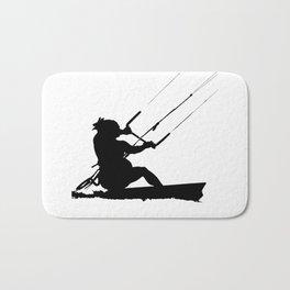 Wakeboarder Water Sport Silhouette Bath Mat