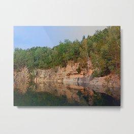 Granite rocks at the natural lake | waterscape photography Metal Print
