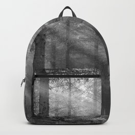 Scottish Highlands forest - Black and white - North Kessock, Highlands, Scotland Backpack