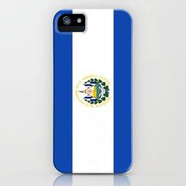 Flag of salvador - salvador,Salvadoran,San Salvador,salvadoreño,Guanaco. iPhone Case