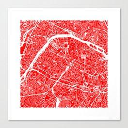 PARIS MAP ART Canvas Print