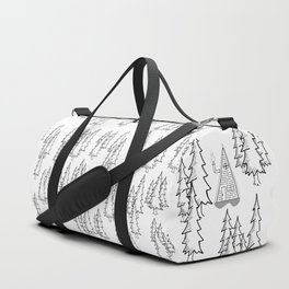 Lost in the wood, a lonely cabin Duffle Bag