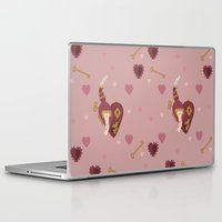 valentines Laptop & iPad Skins featuring Steampunk Valentines by S. Vaeth