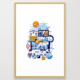 The process (2017) Framed Art Print