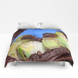 Birds of a Feather by Maureen Donovan Comforters