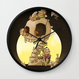 """Skulls """"Ahoy!"""" Wall Clock"""