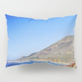 Vibrant Red Ice Plant on Beach, Big Sur, California Pillow Sham