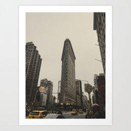 Flatiron building, New York architecture, NY building, I love NYC Art Print
