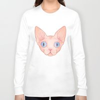 sphynx Long Sleeve T-shirts featuring Sphynx by Delia Evin