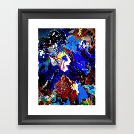 That guy in the sky Framed Art Print