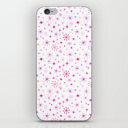 Atomic Starry Night in White + Mod Pink iPhone Skin