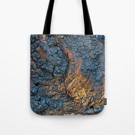 Charred Wood Texture Tote Bag