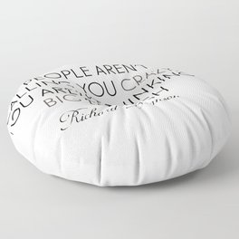 Richard Branson quote, think big, take risks, inspiring, motivational sentence Floor Pillow