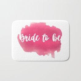 Bride to be - watercolour lettering Bath Mat