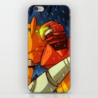 metroid iPhone & iPod Skins featuring Samus (Metroid) by Peerro